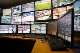 The,Control,Room,Of,The,City,Surveillance,Center.,Computer,Monitors
