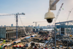 Dome,Type,Outdoor,Cctv,Camera,,Secure,Construction,Site