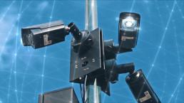 Digital,Technology,Concept.,Modern,Video,Surveillance,Cameras,Outside.,3d,Graphic.
