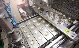 High speed food production machine