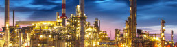 Gas and oil refinery